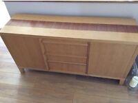 Oak veneer sideboard