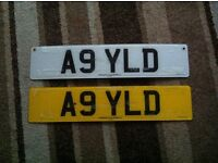 A9 YLD CAR PRIVATE PLATES BMW Audi Mercedes Vauxhall seat range Vw