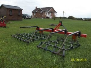 3 point hitch straight tooth harrow. Like new.