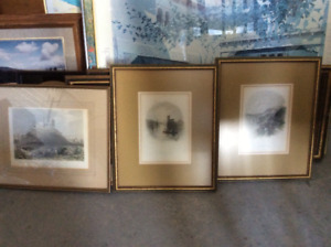Various pictures and Assorted picture frames