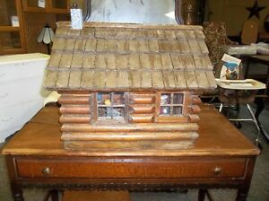 VINTAGE FOLK ART LOG CABIN