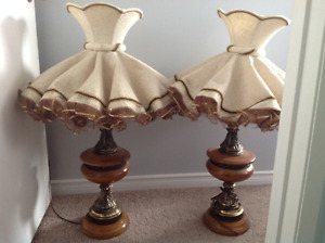 Pair of vintage lamps-$100 for everything listed