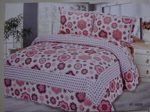 100% COTTON 3 PIECE TWIN QUILT SETS-BRAND NEW