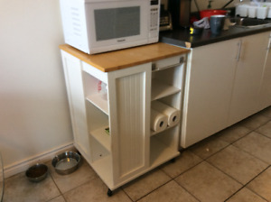 Microwave cart / kitchen island for sale