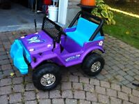 Girls battery operated ride on car