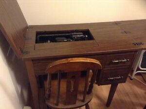 Simpsons Sewing Machine and Cabinet