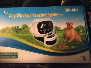 """Completely wireless dog fencing system """"2"""" Dogs"""