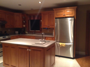 Custom Kitchen Cabinets with Corian countertops