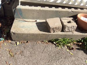 Concrete patio steps