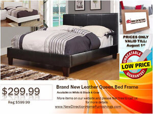 ◆Brand New Leather QN/DB Bed Frame on Sale@NEWD◆