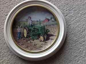 John Deere collector plate and stand