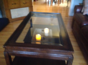 Sturdy Glass Top Coffee Table, Good condition