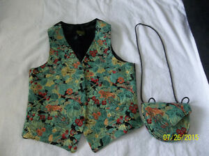 Vintage Bothy Hall Carpet Bags Vest and Purse