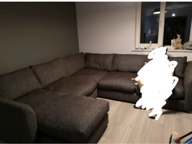Large corner sofa with chaise