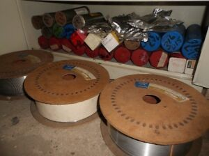THREE STAINLESS ROLLS OF WELDING WIRE(25 lbs rolls)