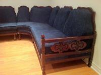 Canapé vintage rénové