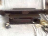 Yamaha subwoofer integrated receiver sr-301 and sound bar ns-br301