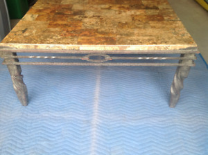 Granite Coffee Table and 2 Matching End Tables