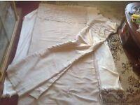 Next curtains satin beige size: 168x183cm used £6