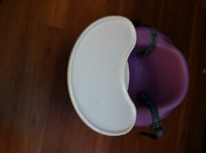 Lavender bumbo with belt and tray