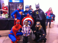 AWARD WINING SUPERHERO CHARACTER PACKAGES BOOK NOW!