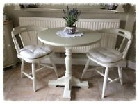 Pretty Little Table & 2 Chairs (solid wood)