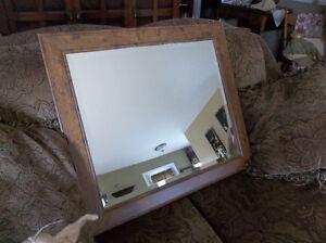Mirror with beverly edge around