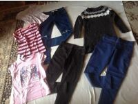 Joblot bundle used girls clothes 7 items age 9/10 £4