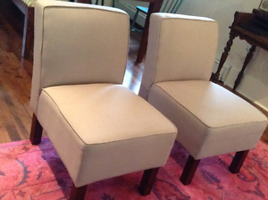 Pair of armless chairs in excellent condition