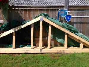 ROOF TRUSSES FOR A SHED