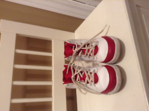 Michael Jordan red and White Running Shoes