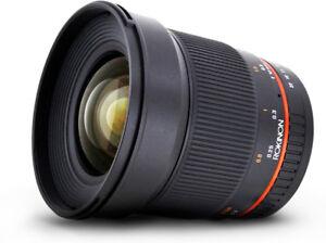 Rokinon 16mm f2.0 Nikon F