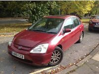 HONDA CIVIC SE EXECUTIVE 1.6 AUTOMATIC 02 WITH MOT EXCELLENT RUNNER, FSH, 100% RELIABLE SLIGHT ISSUE