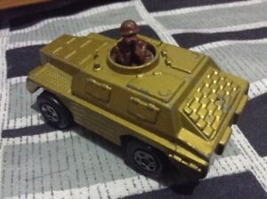 Vintage Matchbox Lesney Stoat Tank-made in England