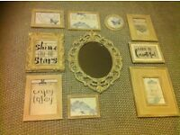 Wall hanging shabby chic / rustic frames