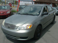 2003 TOYOTA COROLLA AUTOMATIC WITH AIR ONLY $3066.