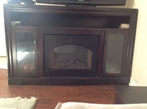 Tv stand + electric fireplace