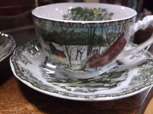 transfer ware cup & saucer