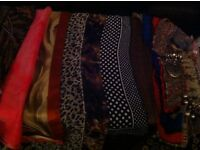 Ladies scarf selection 14 pieces