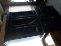 Black wood buffet and hutch