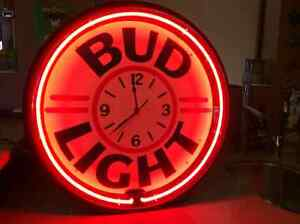 Collectors Neon Bud Light Bar Clock