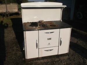vintage wood stove, oven