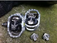Shimano PD M545 pedals and cannondale shoes