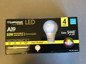 New LED - Four (4) pack Bulbs / Lights Dimmable.
