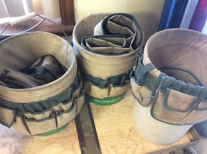 Tool buckets with organizers