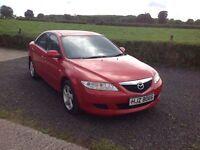 2004 Mazda 6 2.0 TS TD red full mot low miles alloys