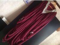 Dubai brand new ABAYA PARTY WEDDING JILBAB KAFTAN 58 LENGTH wine colour £20