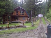 REDUCED PRICE AGAIN!!! Log cabin in the woods