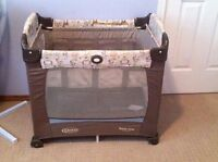 Graco travel lite mini crib with stages