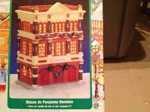 Noma Dickensville Porcelain Lighted Fire House Regina Regina Area image 2